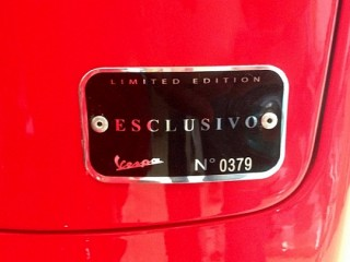 Exclusive Number Plate On Vespa VX125