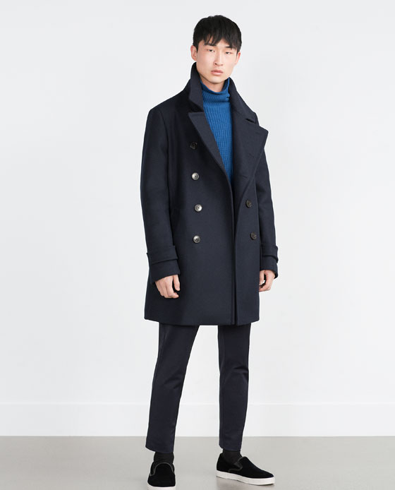 Zara Double Breasted Coat